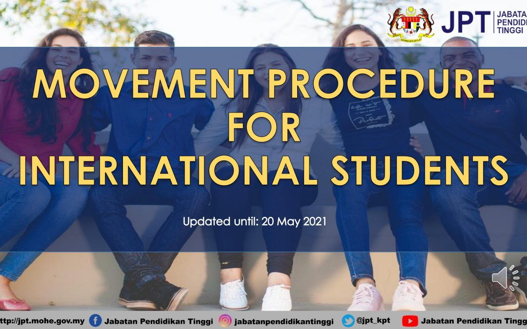 MOVEMENT PROCEDURE FOR INTERNATIONAL STUDENTS 20 MAY 2021