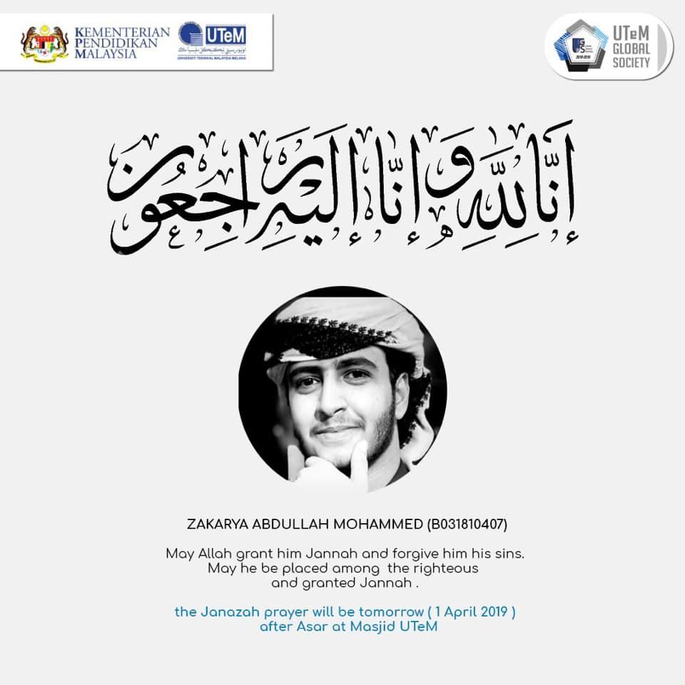Takziah for FTMK student