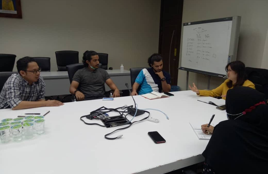 UIC Chairing a meeting with President and vice president of UTeM Global Society