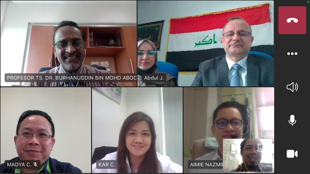 Online Meeting With High Excellency, Prof. Dr. Abdul Jalil M. Khalaf and Dr. Ahlam from Cultural Counselor, Embassy of The Republic of Iraq in Kuala Lumpur